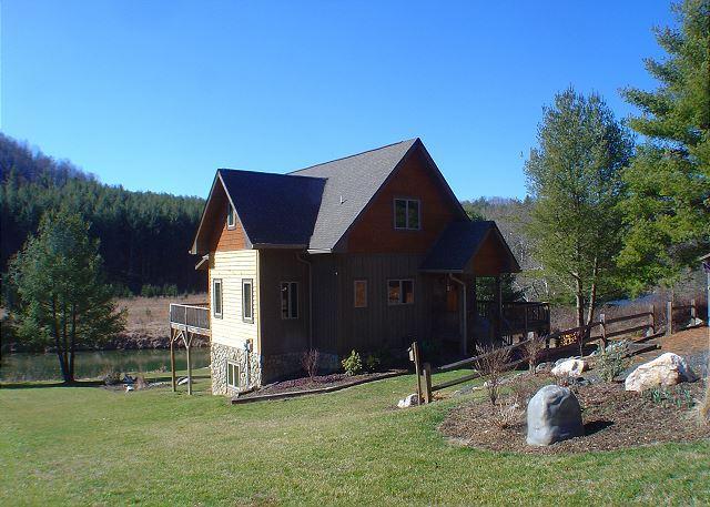 """RIVERSIDE REFLECTIONS"" Magnificent Log Home - Perfect Summer Retreat! - Image 1 - Laurel Springs - rentals"