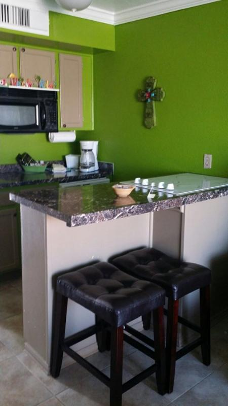 GREAT COOKING AREA, FULL SIZE KITCHEN. - Beach Front Condo - Galveston - rentals