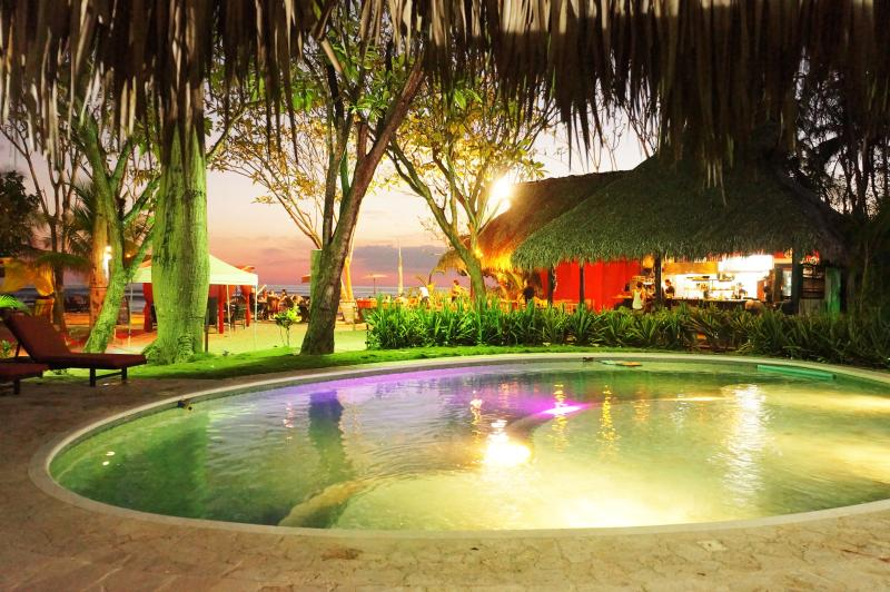 pool area at night - Playa Cielo-Unbeatable Beachfront Location - Santa Teresa - rentals