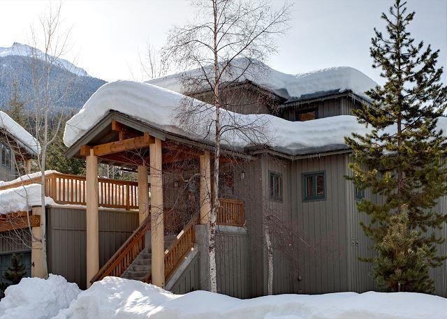 Exterior View of Property in Winter - Taluswood The Ridge #14 | Whistler Platinum | Ski-In/Ski-Out, Private Hot Tub - Whistler - rentals