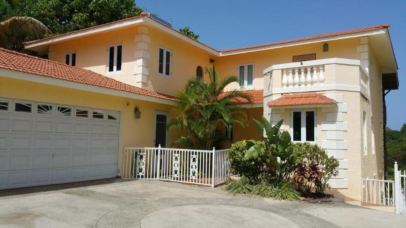 front of the house , the rental is behind above the pool - Affordable, family friendly home in paradise! - Rincon - rentals