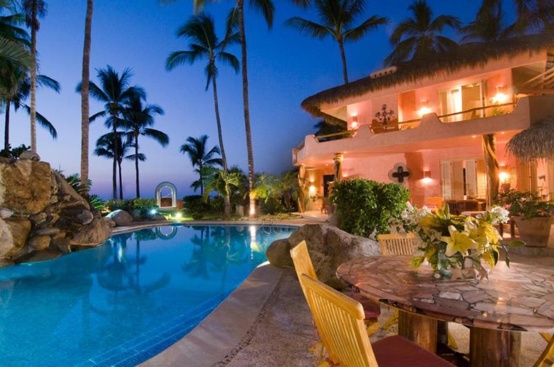 Beachfront pool terrace - Casa Cielito - Beachfront! - San Pancho - San Pancho - rentals