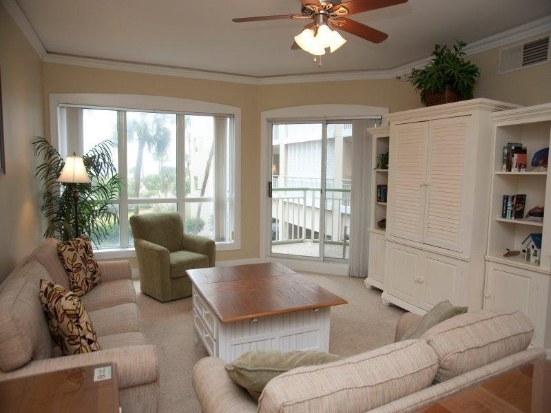 Living Room with Balcony Access at 2115 Windsor II - 2115 Windsor II - Palmetto Dunes - rentals
