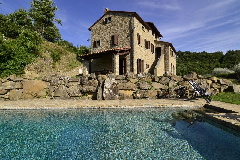 The house and pool - Typical house with private pool and stunning view - Cortona - rentals