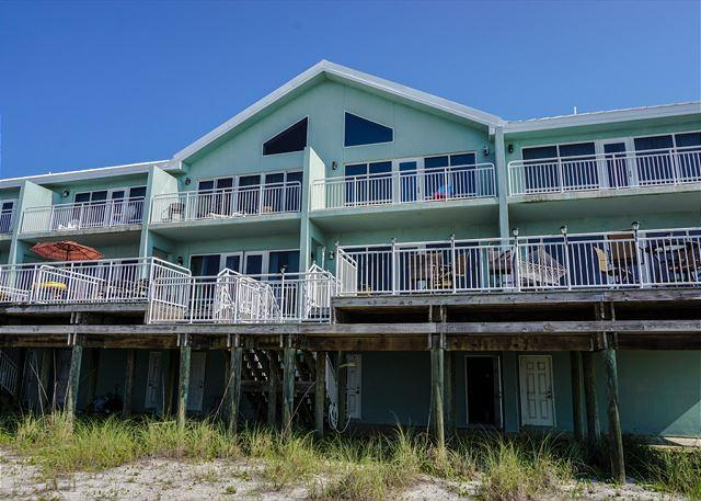 Gulf side of unit. - White Sands #417 - Pensacola Beach - rentals