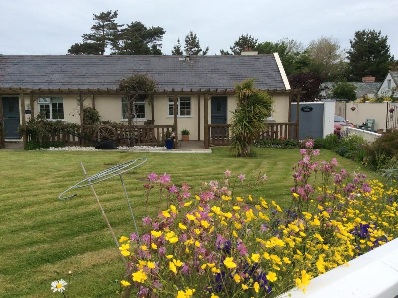 Cottage 1 view from garden - Ballaterson Beg Cottages - Self Catering - Ramsey - rentals