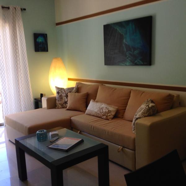 your living room - 1 BR  CONDO at COCO BEACH   ----- SIRENA - Playa del Carmen - rentals