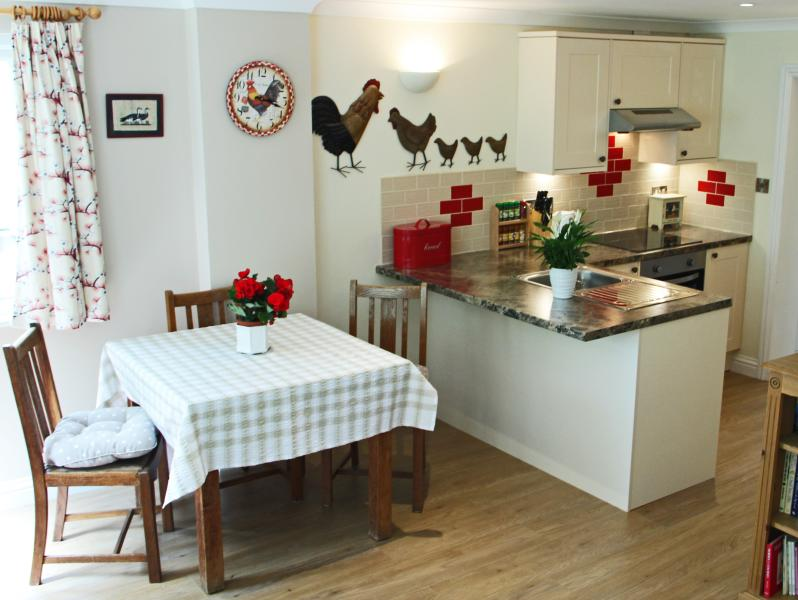 Fully equipped new kitchen with dishwasher, washer/dryer, microwave, ceramic hob, fan oven etc.... - October House Holiday Cabin - Fordingbridge - rentals