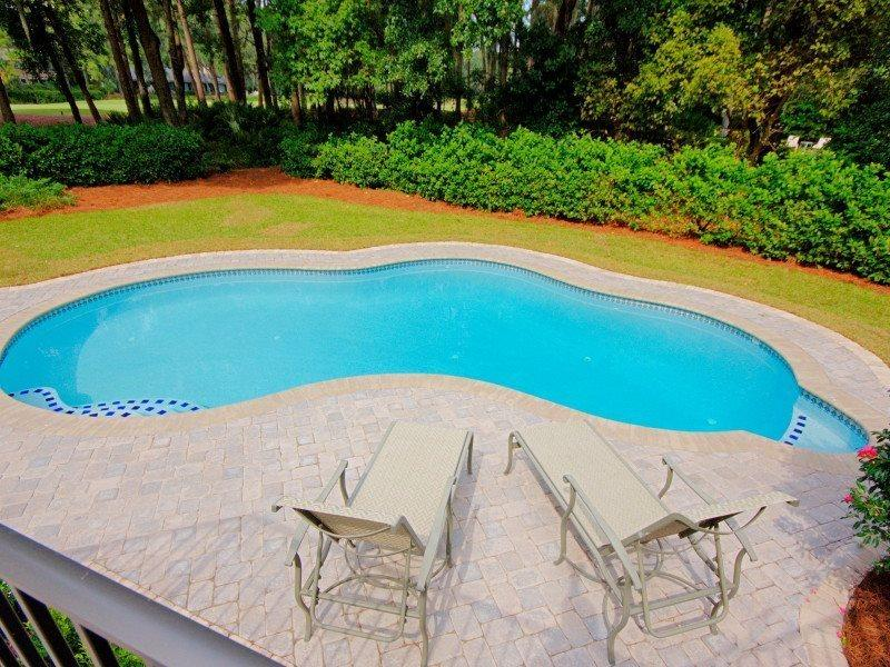 Pool and Deck Area at 5 Battery Road - 5 Battery Road - Sea Pines - rentals