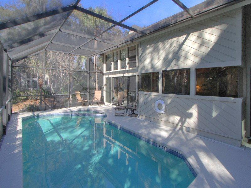 Screened-In Pool Area at 8 Oyster Catcher - 8 Oyster Catcher - Sea Pines - rentals