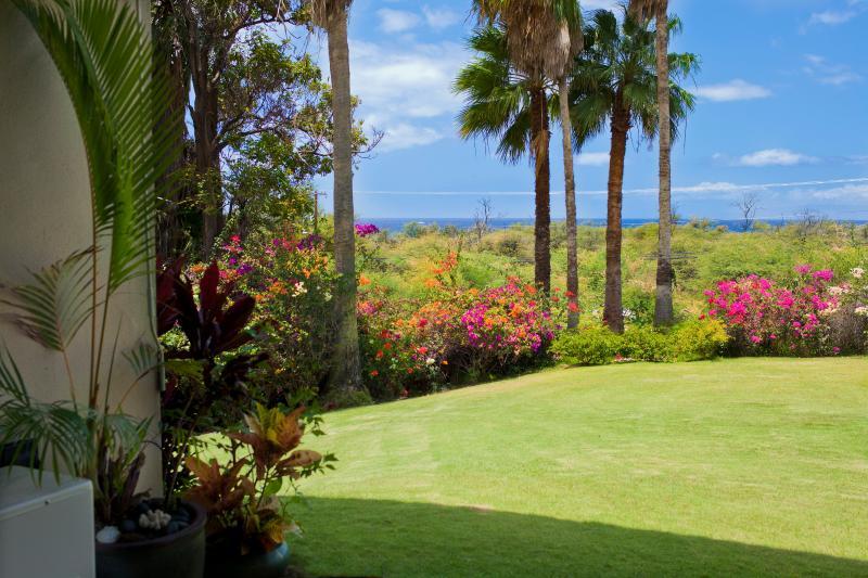 View sitting in our Honu Place Lanai - Keawakapu Ocean View, renovated green 2BR 2B - Kihei - rentals