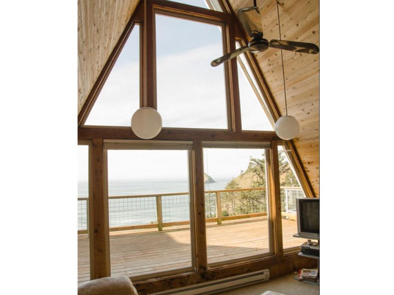 Unit A living room with ocean view - Oceanside A-Frame - Oceanside - rentals