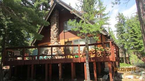 front of this classic Chambers cabin - Carlin - Tahoma Meadows - rentals