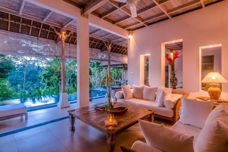 The villa at dusk - Secluded Escape for a Couple - Ubud - rentals