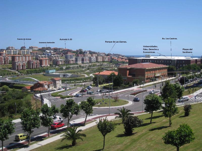Northeast view and apartment emplacement. (From the livingroom) - Silencioso piso para descansar y disfrutar estas v - Santander - rentals