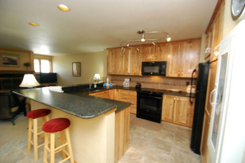 Newly remodeled kitchen - Liftside Condominium 21 - Completely remodeled, updated appliances, ski area views, walk to slopes! - Keystone - rentals