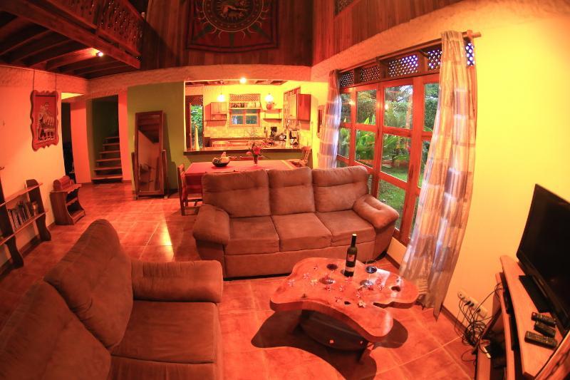 Spacious living room - Spacious Beach Front House in Puerto Viejo - Puerto Viejo de Talamanca - rentals