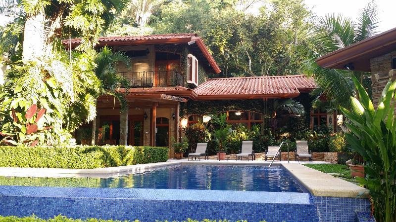 Rear View of private pool and patio - Los Suenos Resort -Casa Buen Dia - Los Suenos - rentals
