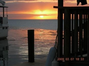 Sunset from Waterside Deck- facing West - Conch Key: Private Single Family Fishing Compound - Conch Key - rentals