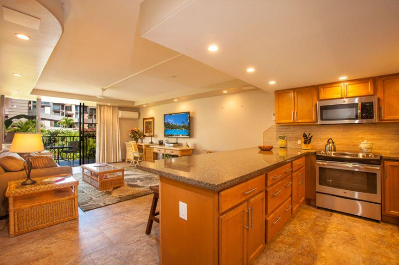 Kitchen / Living Area - Kamaole Sands Condo in South Kihei - Kihei - rentals