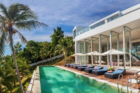 Private Estate with Professional Chef, Marble Pool, Spa, Gym, WiFi - Villa Beige - Image 1 - Taling Ngam - rentals