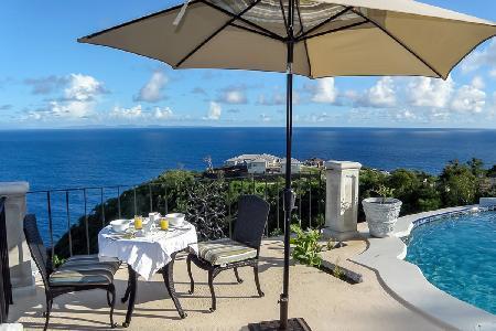 Villa Ivrea features wraparound terrace, jewel-shaped infinity pool & close to golf and beaches - Image 1 - Cap Estate - rentals