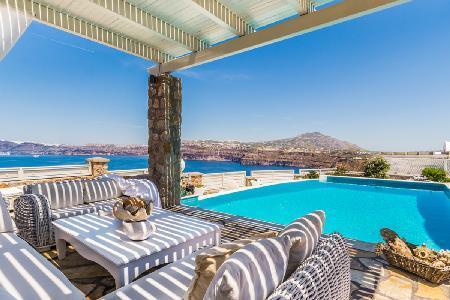 Michaela Residence - Villa on hilltop with amazing views, infinity pool & playful character - Image 1 - Akrotiri - rentals