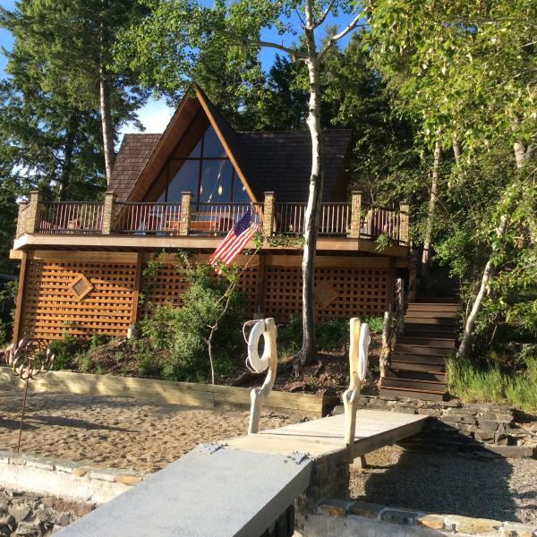 Lakefront A frame cabin at Williams Lake-Jumping Trout Lodge - Lakefront A frame  Home at Williams Lake-SLEEPS 10 - Salmon - rentals