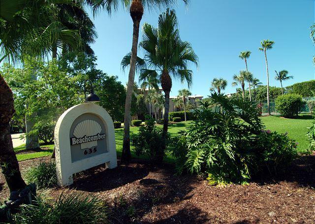 Entrance Sign - Beach front luxury condo - Sanibel Island - rentals