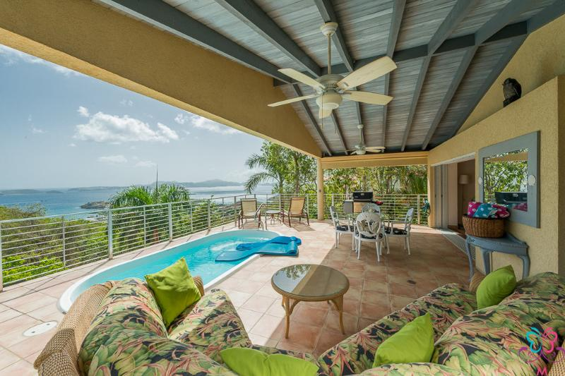 patio with views - Ylang Ylang Luxury Viila September Special now - Cruz Bay - rentals