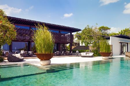 Perched on a tranquil beachfront ridge The Soori Estate with zen pool & helipad - Image 1 - Tabanan - rentals