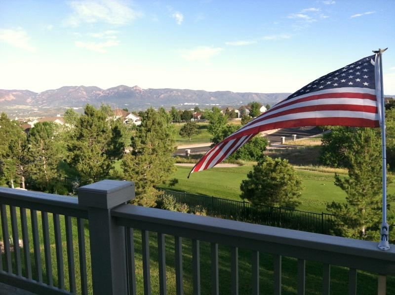 View from back deck - Mountain Views on Golf Course, near AF Academy - Colorado Springs - rentals