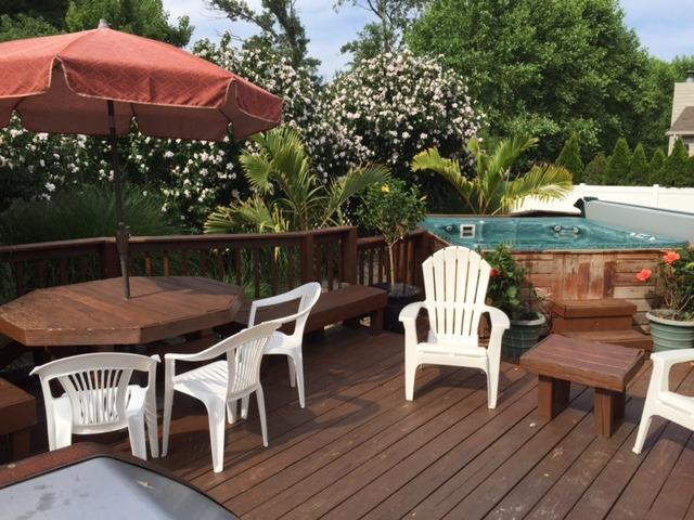 Relax and enjoy a tropical paradise!!  A large deck with hottub, dining table and gas grill. - 4 BRs w/Hottub, 3 blks to beach, pets OK - Rehoboth Beach - rentals