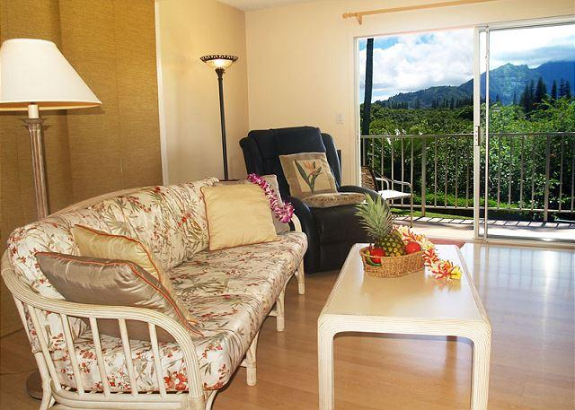 Bali Hai sunsets and waterfall views from this top floor corner 2br/2ba - Image 1 - Princeville - rentals