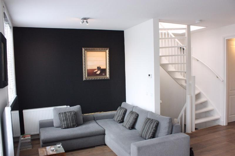 Lounge area with stairs to roof terrace - Apartment with roof terrace - Amsterdam - rentals