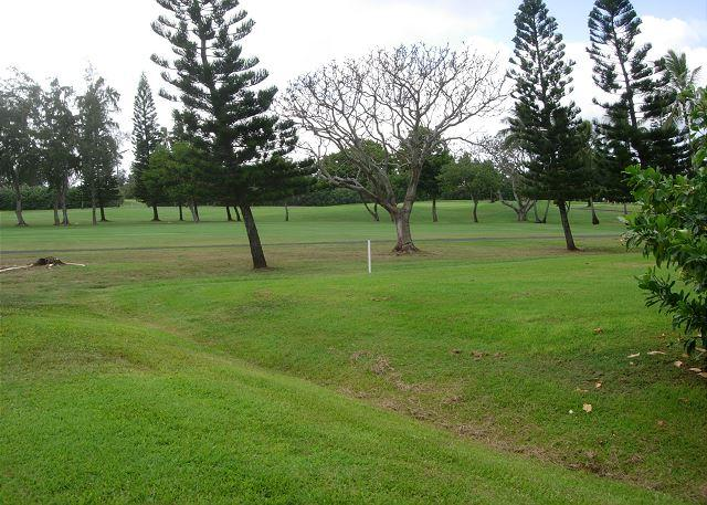 View of golf course - Hibiscus Hideaway *  Available for 30 night rental, please call - Kahuku - rentals