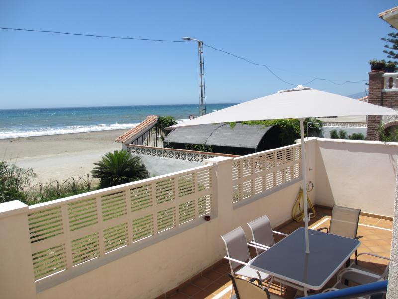 Terraza - Beachfront, Rincón 4,Wifi,A/A,terrace,garage,7person - Rincon de la Victoria - rentals