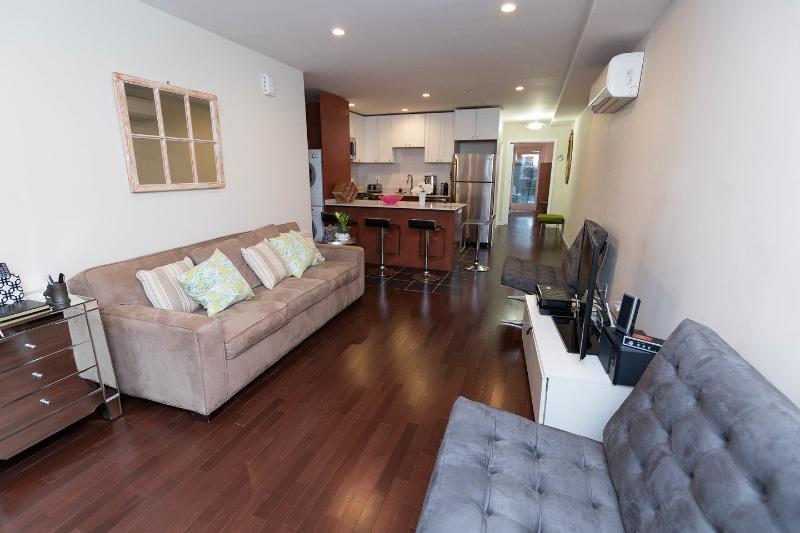 Living Room - Luxurious, Modern, Townhome Garden Apt. 1 Bedroom - New York City - rentals