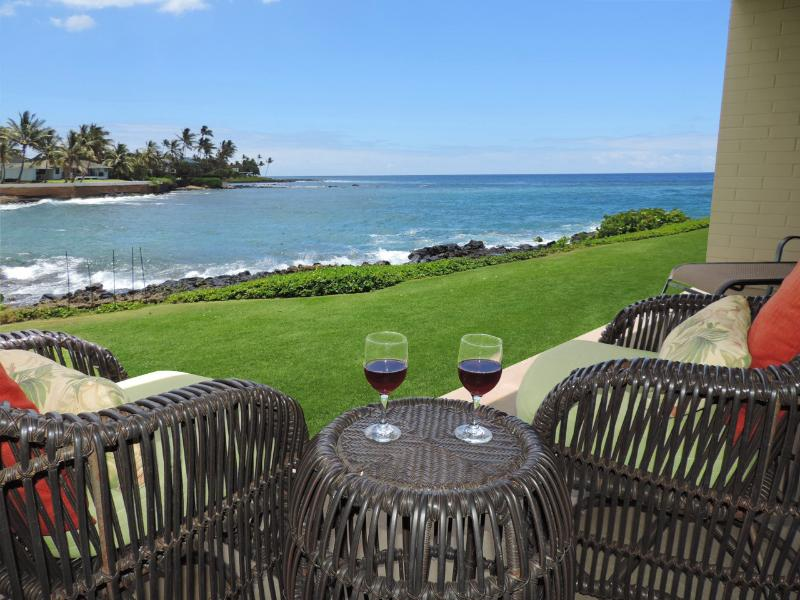 This a view that is hard to leave - Kuhio Shores, Poipu-Oceanfront Beauty - Poipu - rentals
