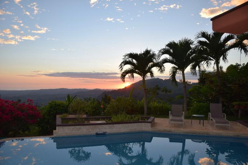 Beautiful end of day at the Casa! - Luxurious Mountain Estate, Horses, Waterfalls - Manuel Antonio National Park - rentals