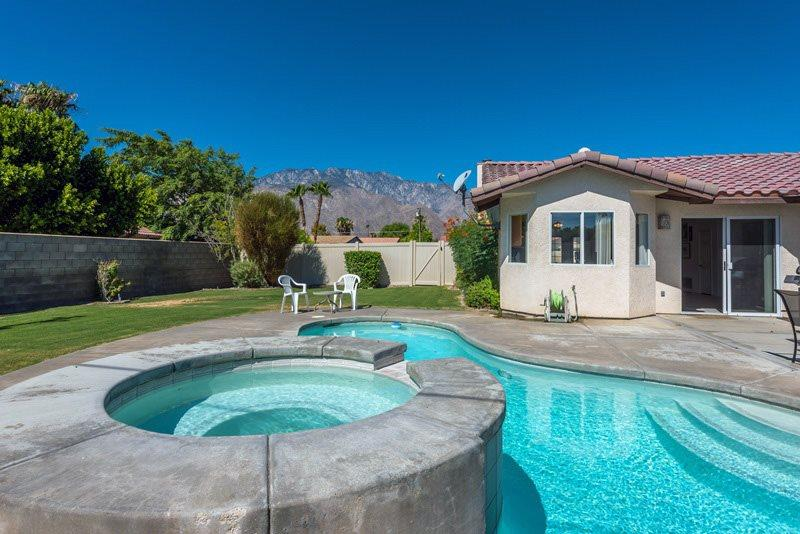 Backyard Pool and Spa - Immaculate and Affordable Home - Palm Springs - rentals