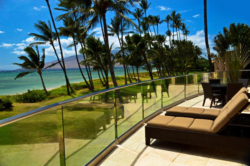 View from Lanai in Villa 1 Luxury Vacation Rentals Maui - BEACH FRONT LUXURY CORAL VILLA 1 +POOL, SUNSETS - Kihei - rentals