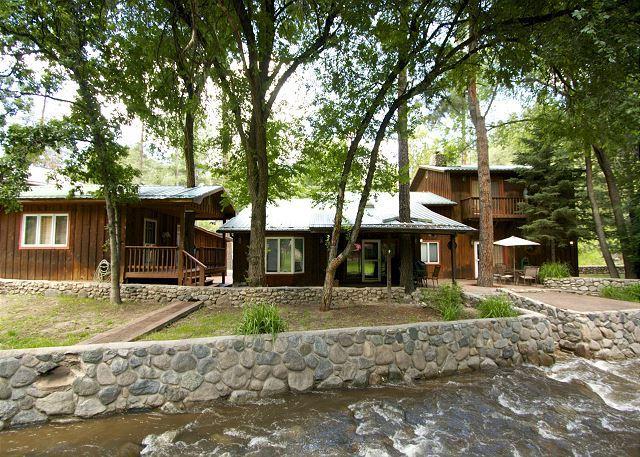 River Bend Lodge is a five bedroom located right on the Rio Ruidoso. - Image 1 - Ruidoso - rentals