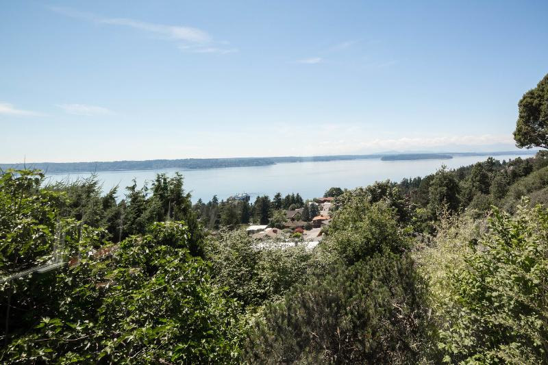 Stunning view from the back patio - West Seattle Private, Quiet Home w/Dazzling View - Seattle - rentals
