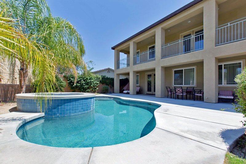 Private Backyard Pool  Spa - Cimarron Cove Golf Villa - Palm Springs - rentals