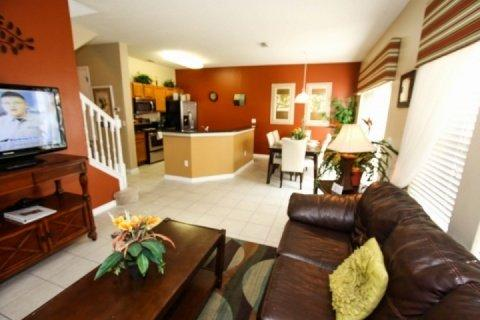 Living, dining and kitchen - Encantada Vacation Rental in Kissimmee, includes Gym and Hot Tub - Kissimmee - rentals