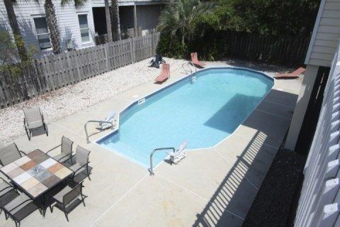 Private pool with lounge chairs - 4 BD/ 3 BA Pool Home - 500 Ft from Beach - Isle of Palms - rentals