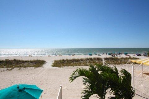 View of the Beach and Gulf of Mexico from your balcony - 218 - Island Inn - Treasure Island - rentals