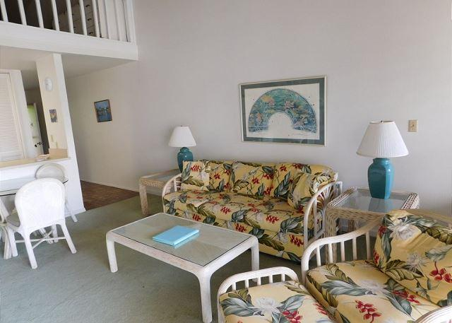 Living Room - Deep Blue ** Available 2 nights to 30 nights or more - Kahuku - rentals