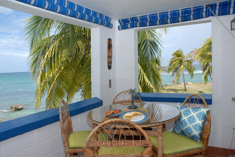 A partial view of and from the balcony - Ocean Front Studio Condo - Negril - rentals